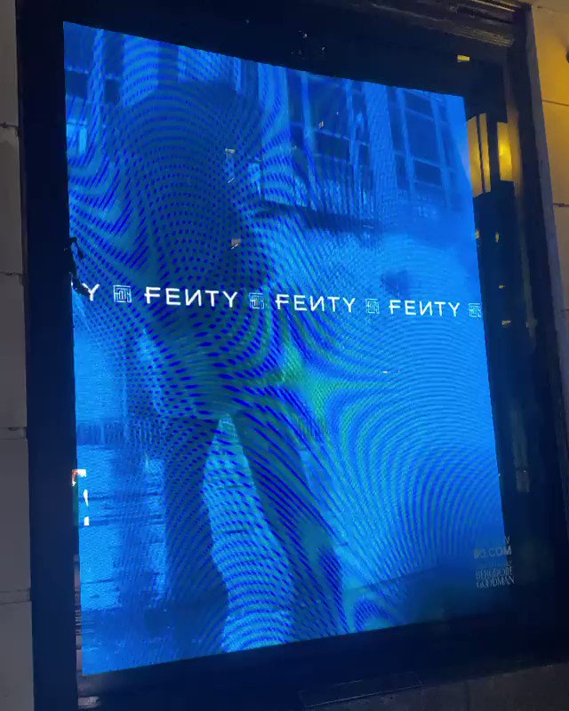 when y'all was asleep lastnight, I was out interacting with my @FentyOfficial digital windows at Bergdorf Goodman 😂! If you happen to be in NYC today do a lil drive by before it ends tonight! https://t.co/MDmmWSSFxG