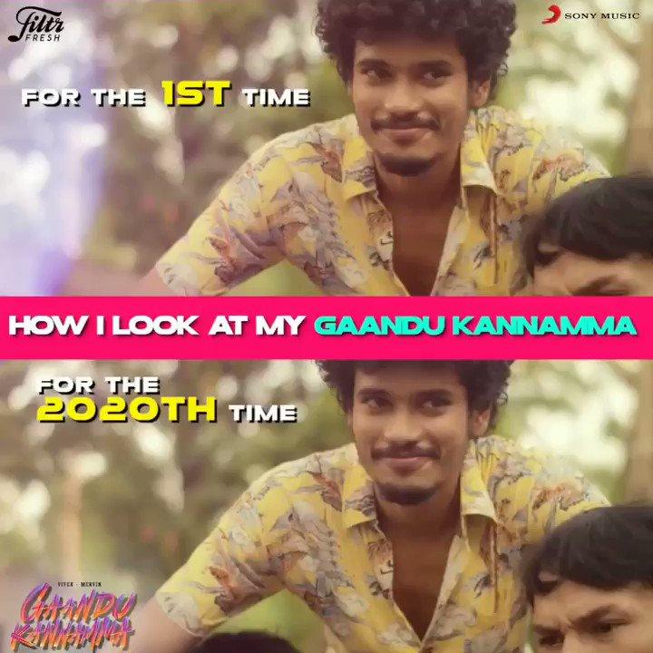 First time or the millionth time.  💕🤩  The look and love remains the same . ❣  Listen to the quirky #GaanduKannamma now➡️  @iamviveksiva @MervinJSolomon @amithkrishnan85 @KuKarthk @PawanAlex @JafferJiky @balaji_u  #FiltrFresh