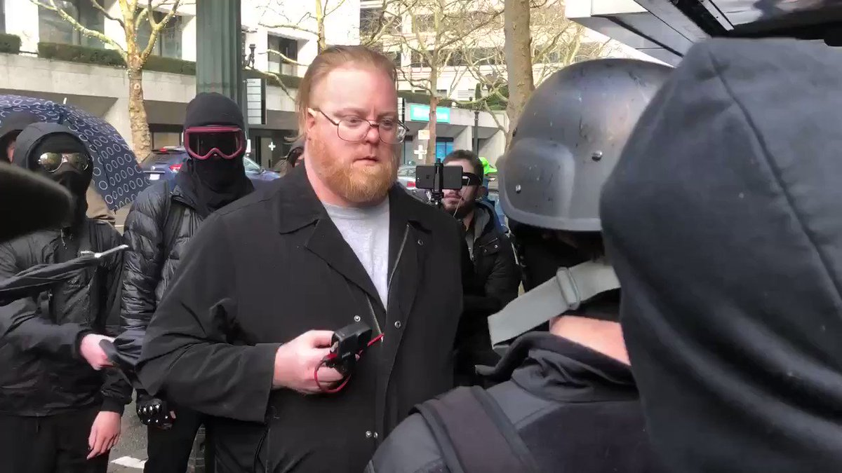 Video recorded by antifa writer Shane Burley shows the mob harassing, assaulting & pepper spraying local citizen journalist Brandon Brown. Brown was attacked & robbed by antifa militants for recording them in Olympia, Wash. in December.