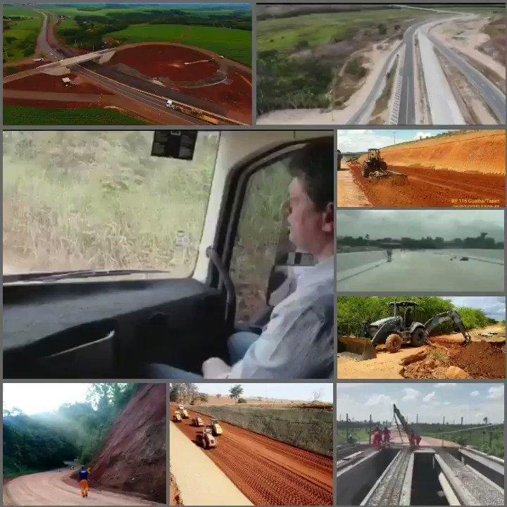 O @MInfraestrutura e o @exercitooficial seguem desempenhando funções estratégicas na construção e reordenamento das rodovias federais. Ex: BR101/AL, BR222/CE, BR116/RS,  BR459,354 e 162/MG, BR080/GO, BR163/MT e PR, BR110/PE, além de muitas outras como o anel de ligação no RJ.