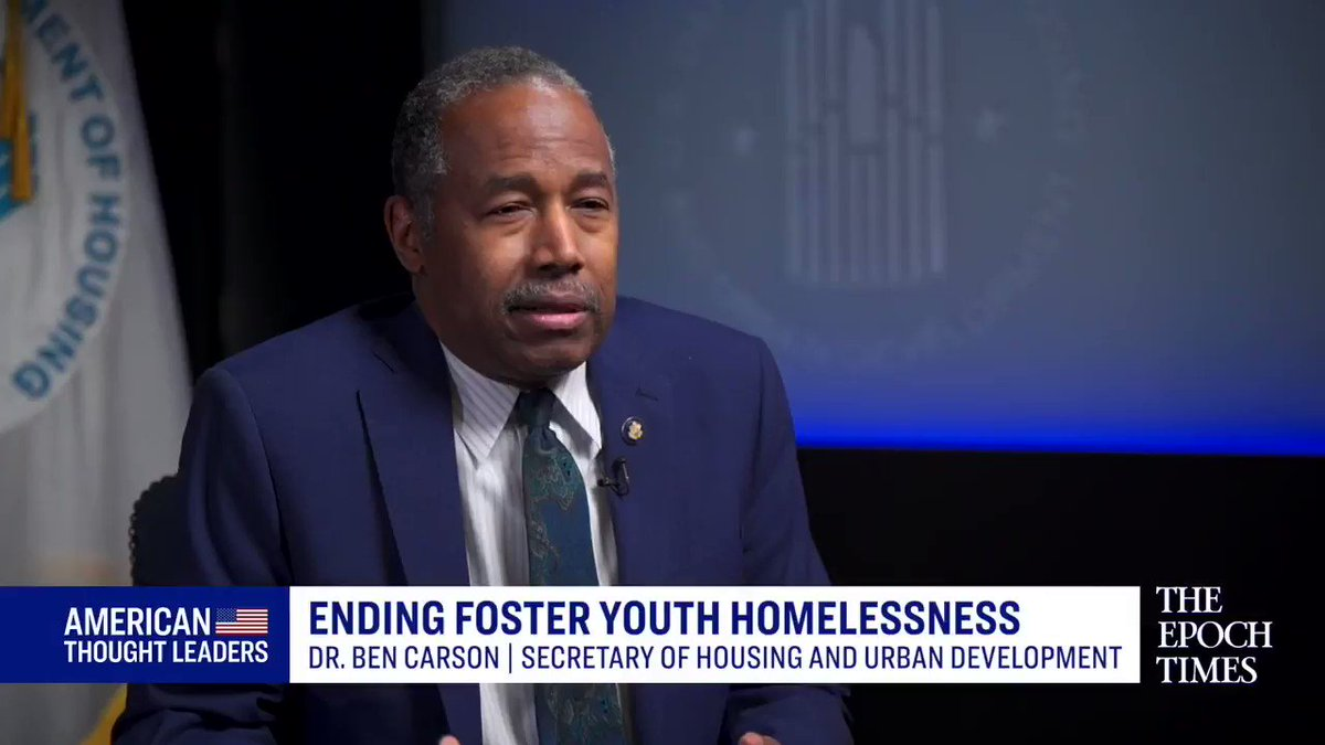 "🔴PREMIERE 4pm ET:   ""About 20,000 kids a year… age out of foster care & at least a quarter of them end up being #homeless sometime in the next four years.""   A new @HUDgov program can solve this; @SecretaryCarson & program originators discuss on ATL🇺🇸."