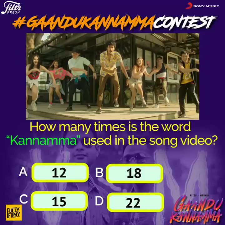 How many times is the word Kannamma used in the song video?➡ Check out #GaanduKannamma song video & tell us in the comments with #GaanduKannammaContest! 💕🎶  @iamviveksiva @MervinJSolomon  @FullyFilmy_in  #FiltrFresh