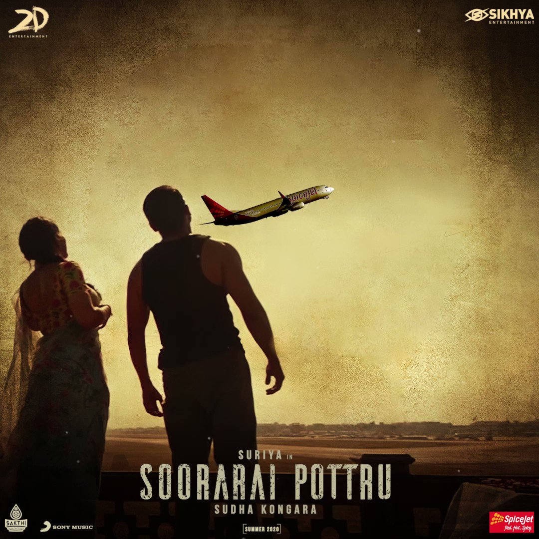 The flying #sooraraipottru romantic single will release in mid air flight 🔥🔥🔥  #AakaasamNeeHaddhuRa #VeyyonSilliSingleFromFeb13 #VeyyonSilliLaunchMidAir  @Suriya_offl #SudhaKongara @2D_ENTPVTLTD @guneetm @rajsekarpandian @Lyricist_Vivek @flyspicejet @SonyMusicSouth