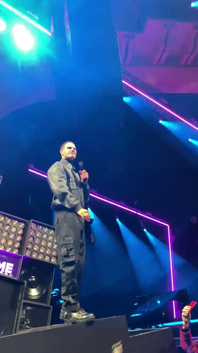 It's just kicked off at the NME Awards #Slowthai 😬 just after he won hero of the year #NMEAwards2020