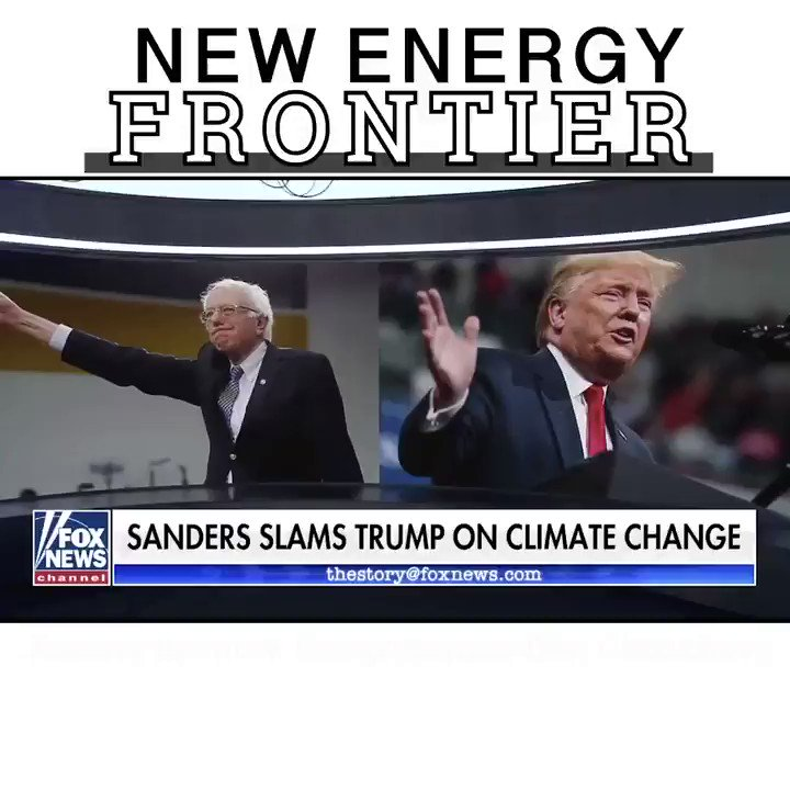Bernie Sanders never proposes solutions to climate change. He uses virtue signaling & fear to cloak a socialist takeover of the entire economy.   We need real solutions.  #NewEnergyFrontier is grounded in proven science about what works to reduce emissions without killing jobs.