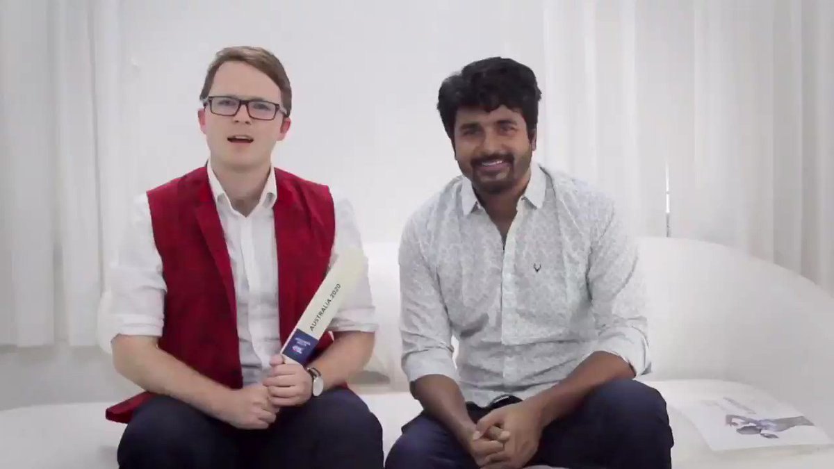One week until @T20WorldCup! Our #LedByWomen countdown is back with a very special guest - Tamil film star @Siva_Kartikeyan! A man who loves his #cricket, and we thank you very much for being involved in the #LetsMakeHerstory campaign!