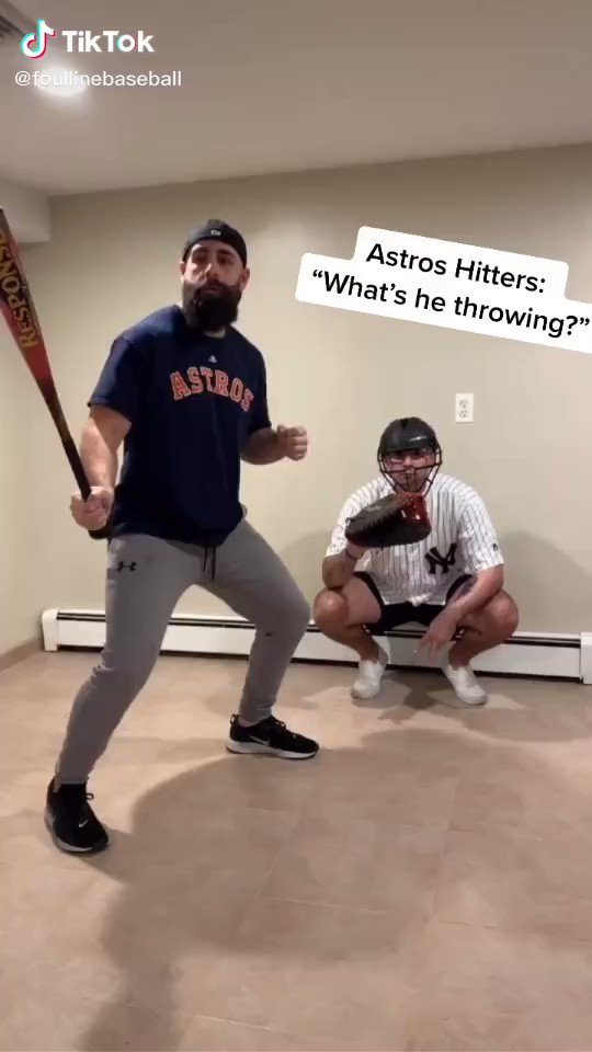 Perfect Reenactment of Astros' Sign-Stealing 😂