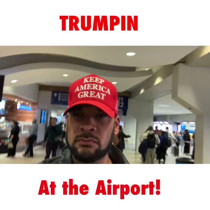 Trumpin' at the airport... @realDonaldTrump  #Trumpin