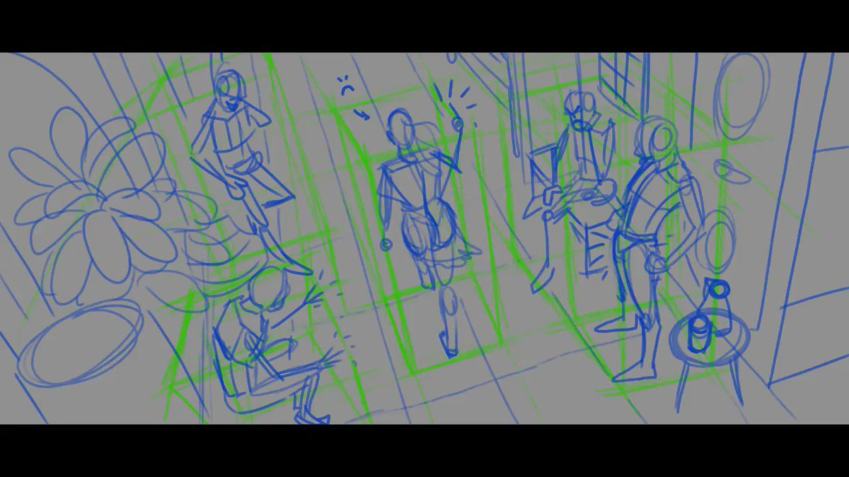 🎨Artist tip of the day nr05! When working in crazy perspectives, imagine your characters (and props) to be in a box! This will help you figure out the right perspective. (This is why you learn how to draw boxes in perspective!) 📦📦📦📦💡