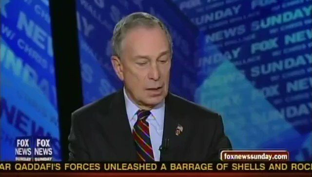 "Mike Bloomberg is fooling no one.   Bloomberg in 2011: ""We cannot continue to say we've got to cut, but we can't touch Medicare and Medicaid, Social Security, defense. That's virtually 90 percent of all of our spending."""