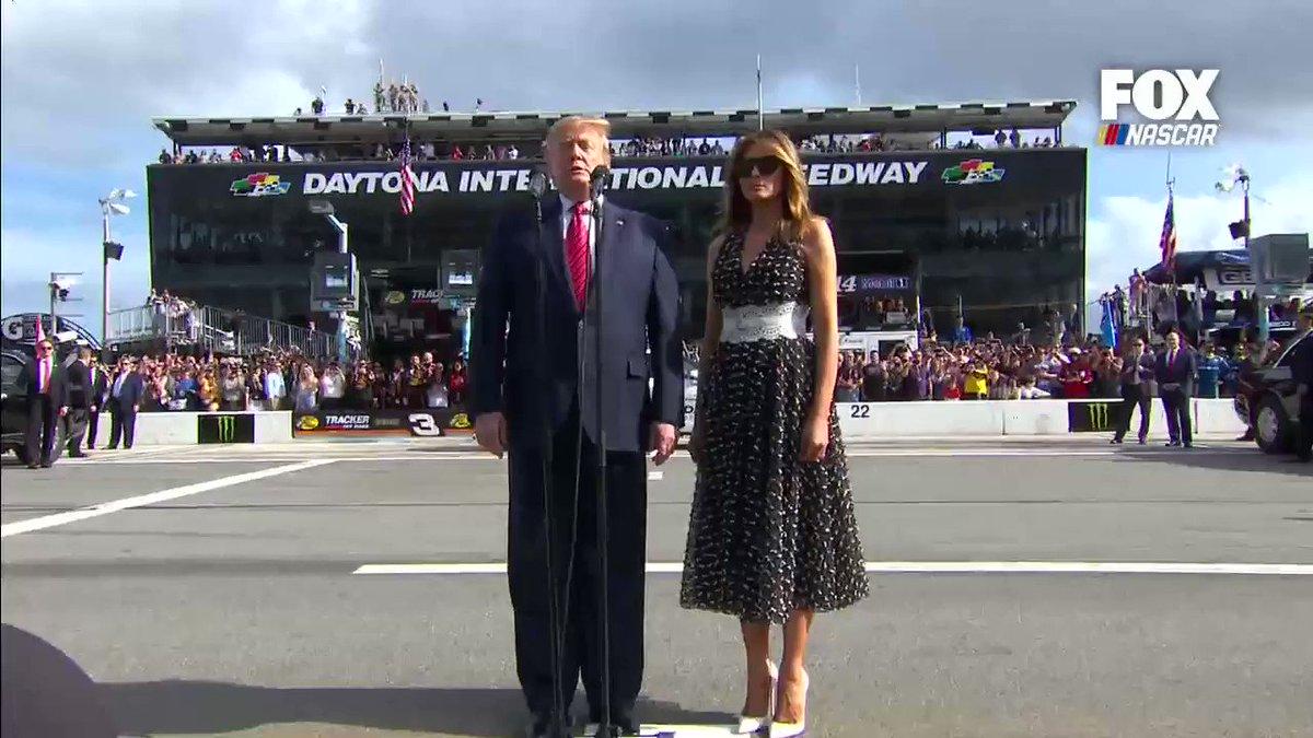 """START YOUR ENGINES!"" -@realDonaldTrump   #Daytona500"