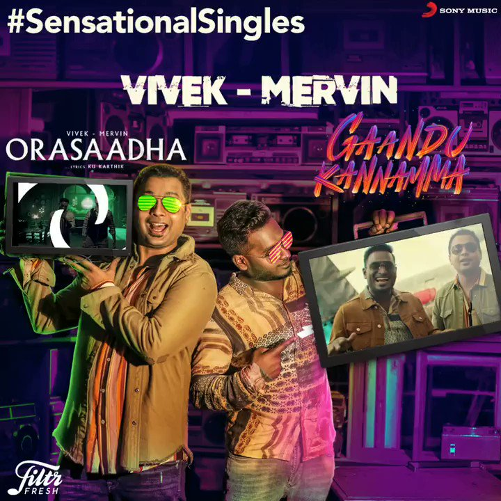 The totally cool @iamviveksiva and @MervinJSolomon's Singles are sensational just in style! 🤩 🎶  Watch and tell us your pick !😎  ➡