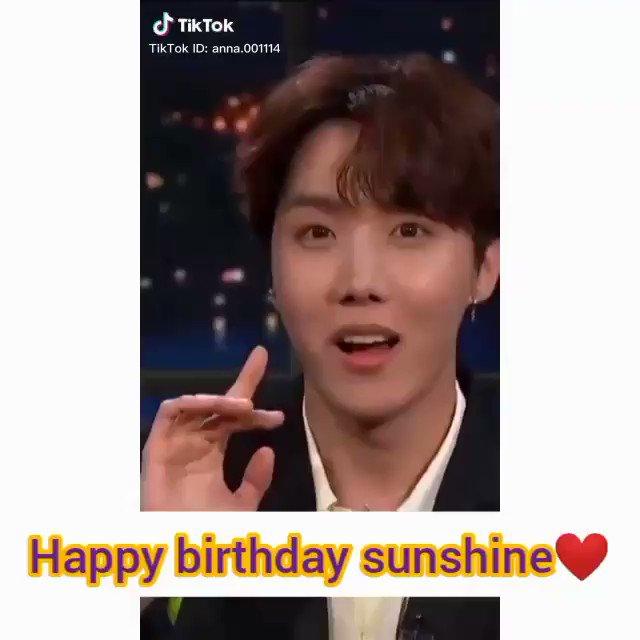 Happy birthday my sunshine 🎂💜💜💜💜I love you so so much. I wish you the best #HOPEDAY #JhopeBirthday #JHopeOurSunshine @BTS_twt
