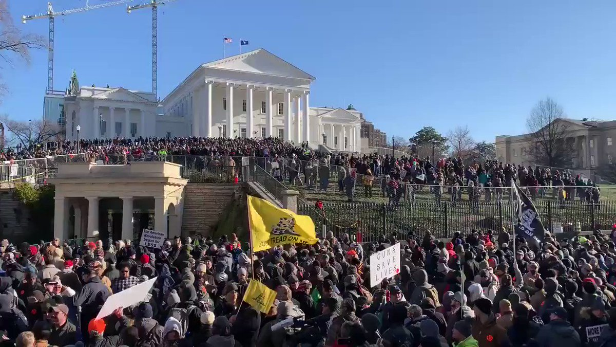 AMAZING NEWS!  Virginia lawmakers have rejected the assault weapon ban that Gov. Northam had pushed.  Moderate Dems broke away from party lines to vote against it.  No doubt that this is thanks to the thousands of peaceful demonstrators that came out to make their voices heard.