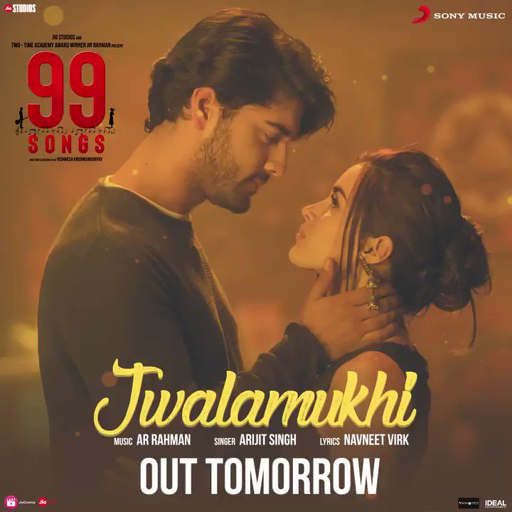Let the fire of passion burn brighter this season with #Jwalamukhi. Song out tomorrow from my upcoming film #99Songs!🔥 @sonymusicindia #ArijitSingh @itsEhanBhat @idealentinc @YM_Movies @jiostudios #99SongsTheMovie
