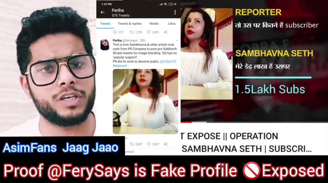 @sambhavnaseth mam i know you are innocent and @ferysays is targeting @sidharth_shukla @ColorsTV & Now You.   Many Blind reporters are Covering this news without doing their research/Home work.  👇👇Joy ki Jaanch👇👇   #SidharthShuklaFever @RealVinduSingh