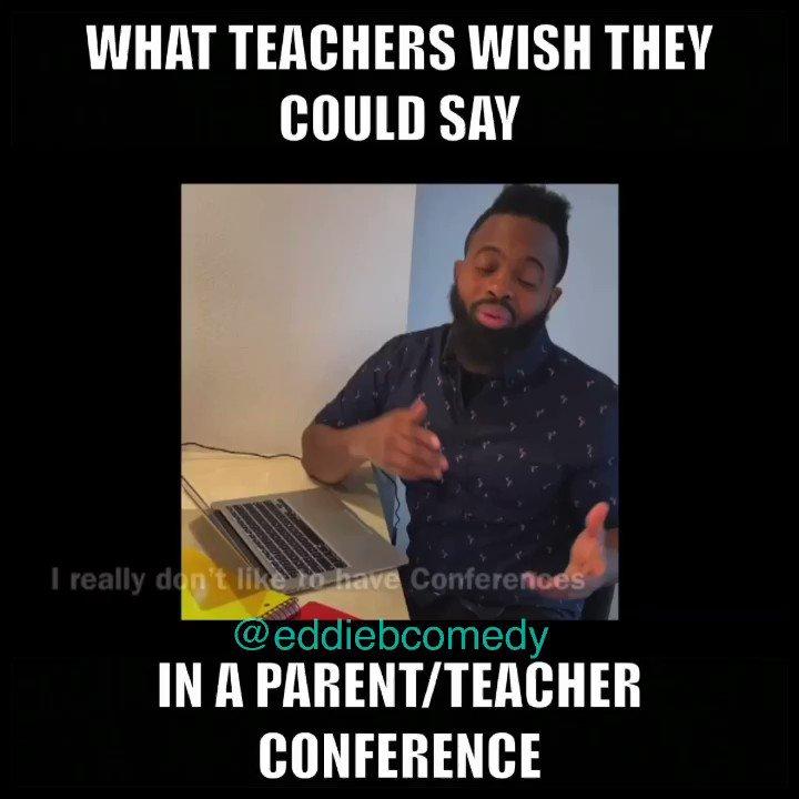 What (Teachers) wish they could say in a Parent/Teacher conference. *Tag A Teacher* Go FOLLOW @comedianeddieb #eddiebcomedy #educators #teachers #teachersofinstagram #teacher #teachersonly #teachersfollowteachers #boredteachers