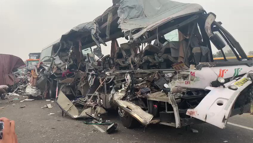KSRTC bus which was heading from Bengaluru to Ernakulam collides with lorry in Avinashi. 17 persons confirmed dead @thenewsminute
