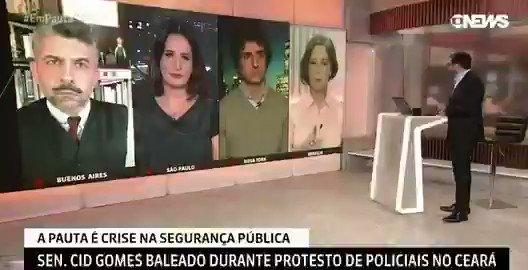 """Cid pega uma retroescavadeira e atenta contra a vida de mulheres, crianças e de todos os policiais, mas para a Goebbels News, ele tem apenas um estilo de politica """"beligerante"""". """"É a Personalidade dele"""". Já o PR @jairbolsonaro é o homem que incentiva a polícia a matar.  #Canalhas"""