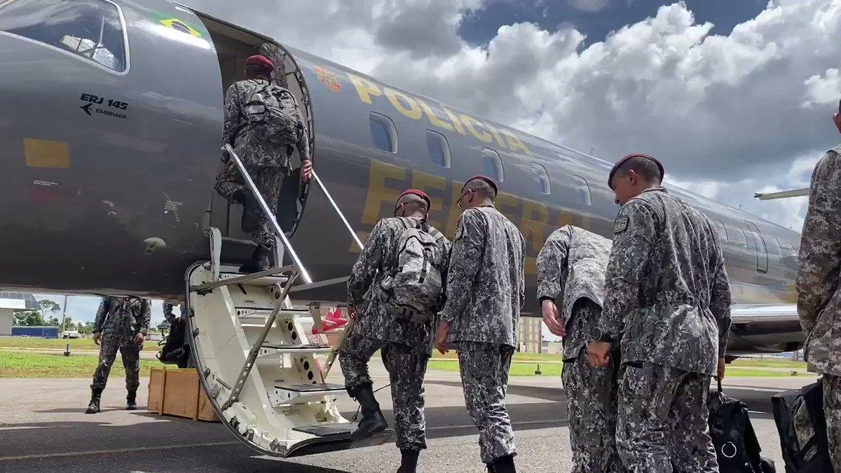 Por determinação do Ministro @SF_Moro homens da Força Nacional de Segurança Pública embarcaram hoje para o Ceará.