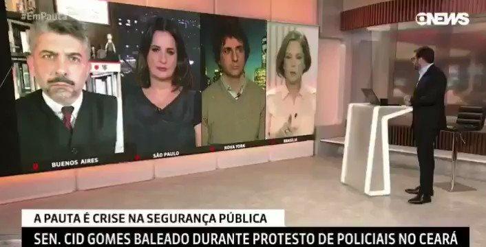 - A  Globo bota a culpa em Jair Bolsonaro pelos tiros em Cid Gomes.