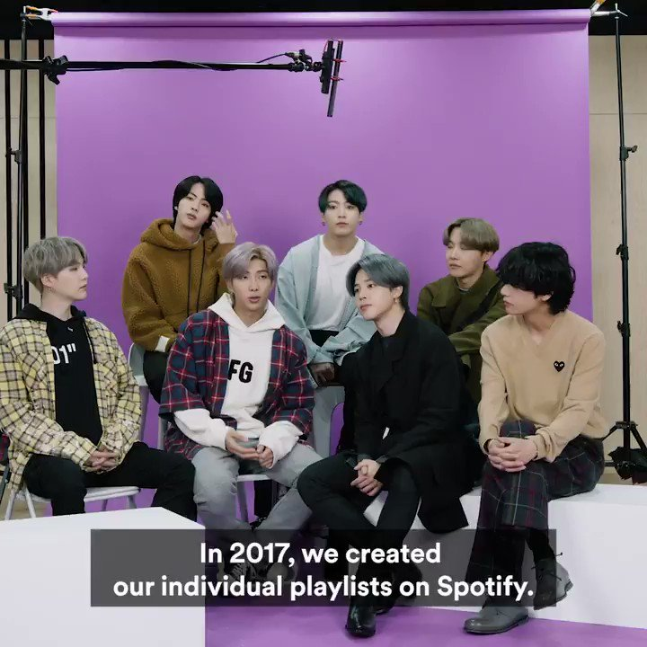 What a journey it's been so far! Check the thread for a list of our favourite 7 moments with @bts_bighit so far… #SpotifyxBTS