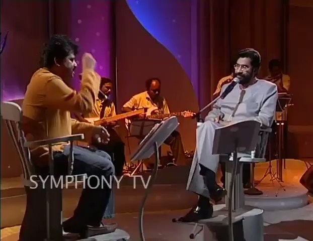 Shreeragamo from Pavithram at The Symhony show in 2006.Would like to add that I originally sang the guide track of this song for Sharreth way back in 1993,the recording of which  I gave Rahman,which made him try me out and that's how my career happened