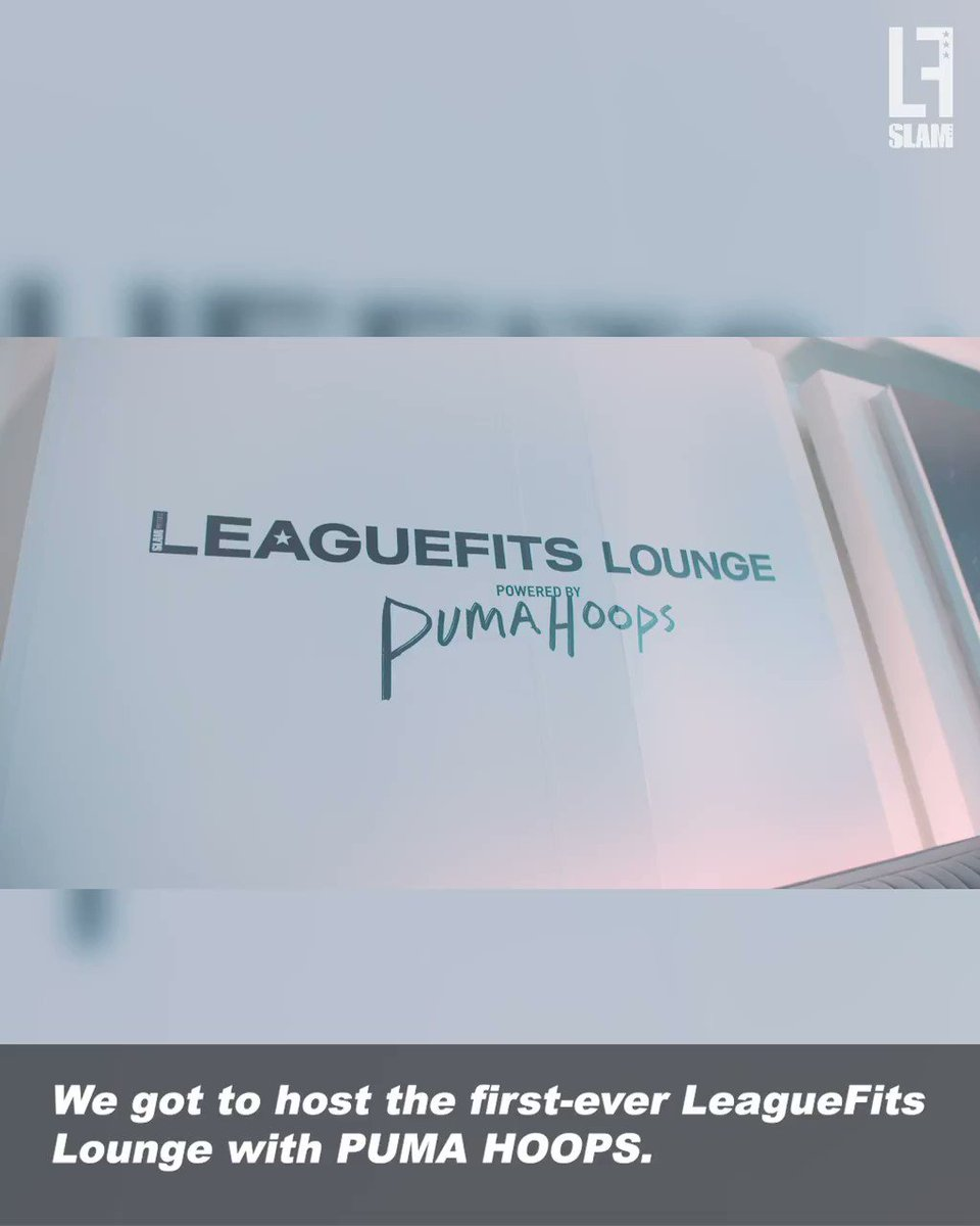 we linked up with @pumahoops at all-star for the first-ever LEAGUEFITS LOUNGE.   it went something like this. 😎