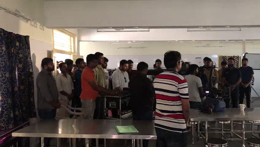 #Chakra Team Paying #Respect to #Indian2 accident victims before commencing the shoot....  @ReginaCassandra @ShraddhaSrinath @thisisysr @srushtiDange @LycaProductions @ikamalhaasan @shankarshanmugh