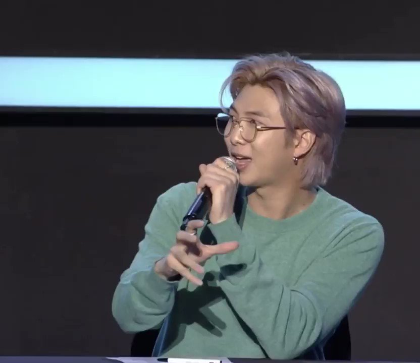 If namjoon was my college professor I'll gladly repeat the course  #7Conference