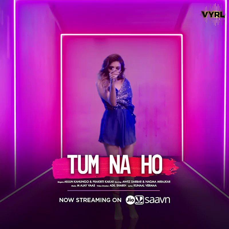 The long distance love anthem is making waves everywhere!💌🌊  Tune in now and listen to #TumNaHo on @JioSaavnif you haven't already! 🎶🔊:   @arjun_kanungo @PrakritiKakar@kunaalvermaa77 @MAjayvaas #AwezDarbar #NagmaMirajkar #Nawez
