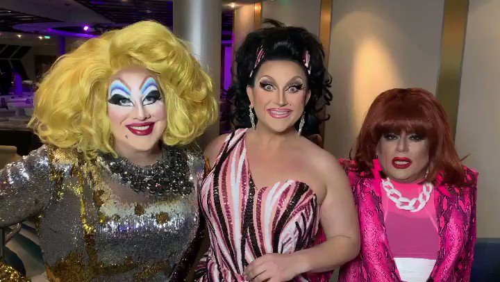 Honey, @bendelacreme and I shrunk the @Heklina! But don't worry, we have just the potion she needs to prevent her further decay. Come see us all at DRAG BECOMES HER, March 14th at the Castro Theatre- plus @JinkxMonsoon and more! Tickets at  #dragbecomesher