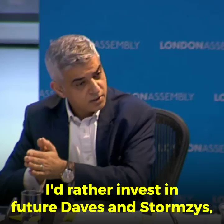 RT 😁  violent crime emergency in London and a Mayor who doesn't care Sadiq Khan is wasting your money on bicycle ballets beach parties, and drag acts instead of keeping London safe He would prefer to invest in future Stormzys & Dave  Don't vote him in