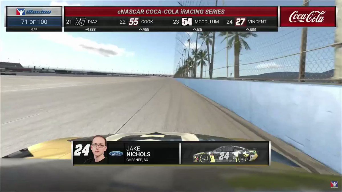 These boys are blocking ALL over the track.  Somethings gotta give in these final laps!  Tune in now!