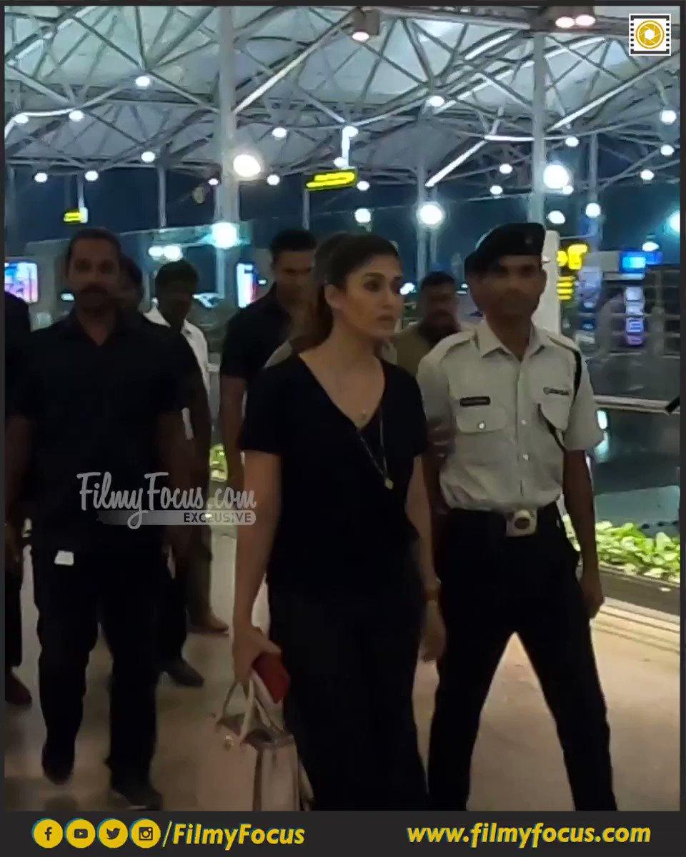 Lady Superstar #Nayanthara Spotted at The RGIA..!  #ActressNayanthara #ActorNayanthara #Whistle #SyeraaNarasimhareddy #Darbar #Airportlook #AirportDiaries #CelebSpotted #FilmyFocus #Nayantara