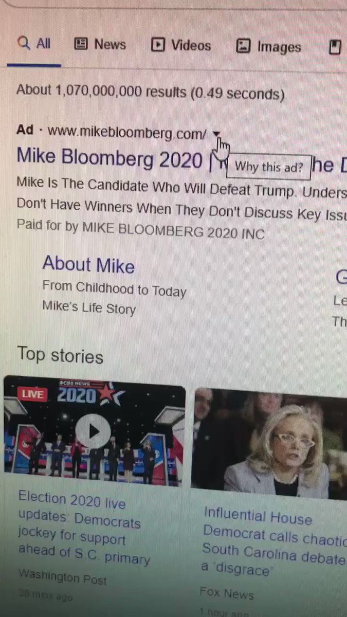 lol google literally won't let you turn off bloomberg ads