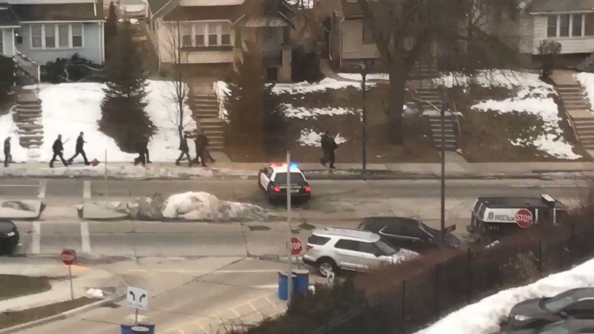 JUST IN: Video from a MillerCoors employee shows officers responding to the active shooter incident. Sources say an employee in uniform opened fire:
