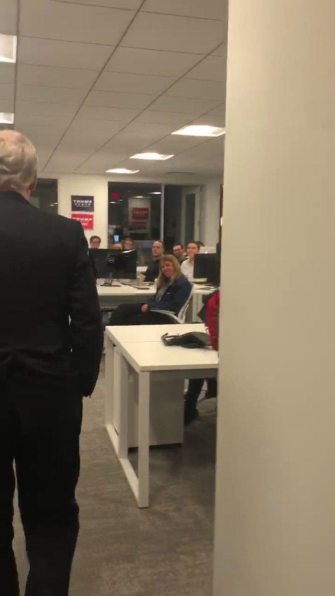 Great to meet everyone at @TeamTrump HQ!