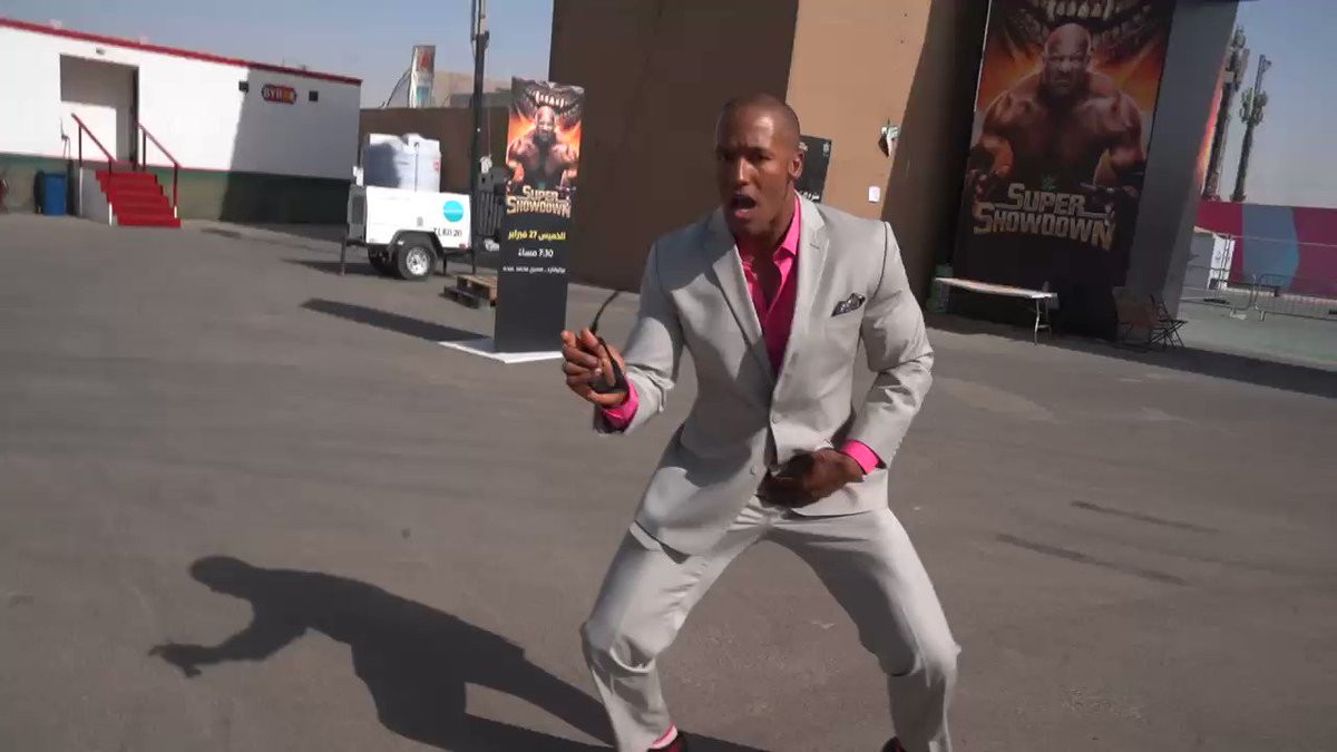 It's almost time for #WWESSD, and @ByronSaxton can't contain his excitement for @NaomiWWE vs @itsBayleyWWE