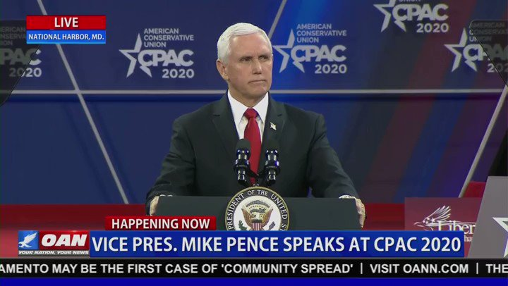 "Vice President Pence:  ""Bernie Sanders even called the president's decision in his words 'assassinating a government official.' I've got news for Bernie Sanders, Soleimani was not some government official, he was a terrorist and President Trump was right to take him down.""  #CPAC"