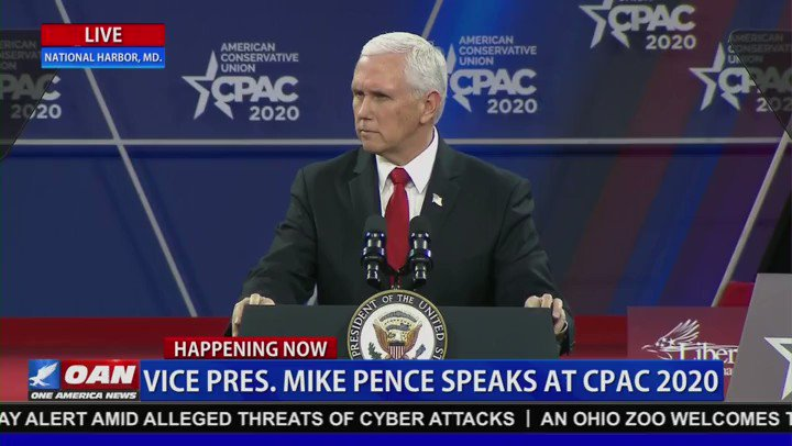 "Vice President Pence:  ""That wasn't a Democratic Debate, that was a demolition derby""  #CPAC"
