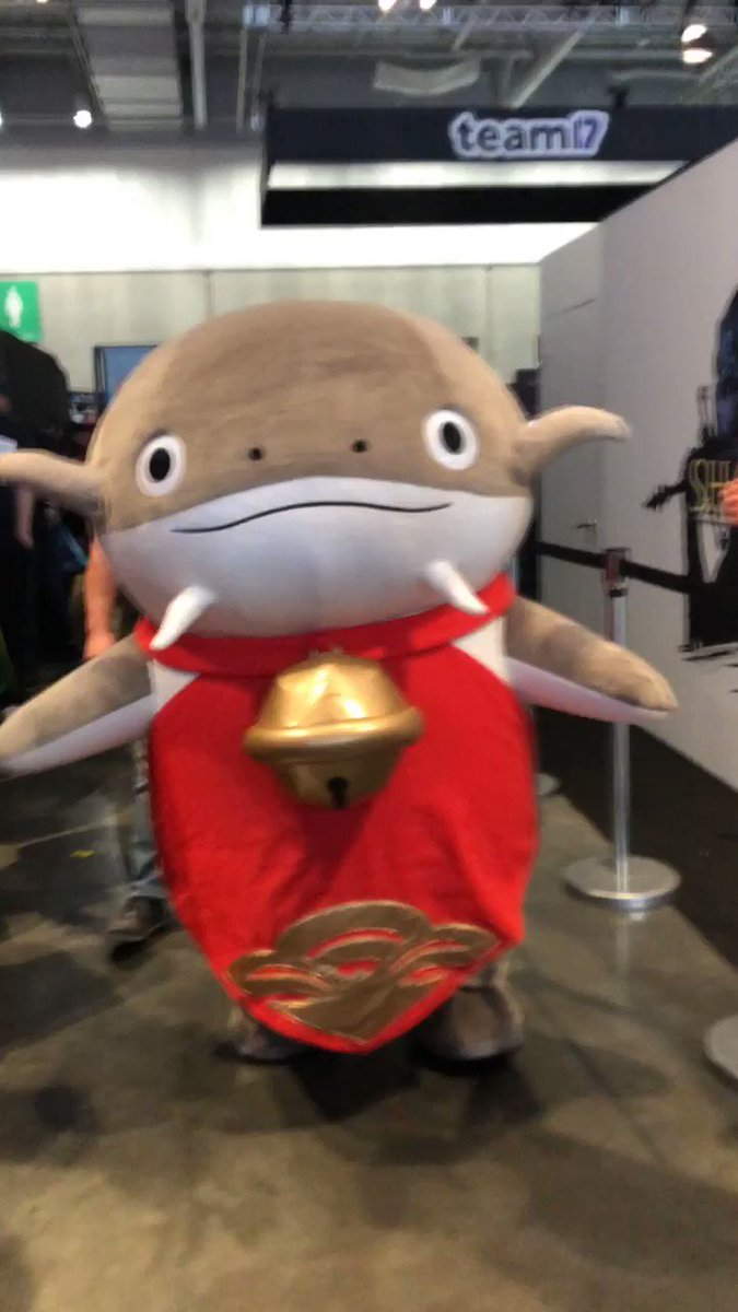 Take a break from your #PAXEast2020 Daily Quests and grab a photo with our @FF_XIV_EN Namazu mascot!