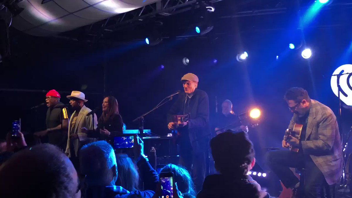 """Finish the lyric...   """"How sweet it is to be ______"""" ❤️  #iHeartJamesTaylor   Watch live:"""