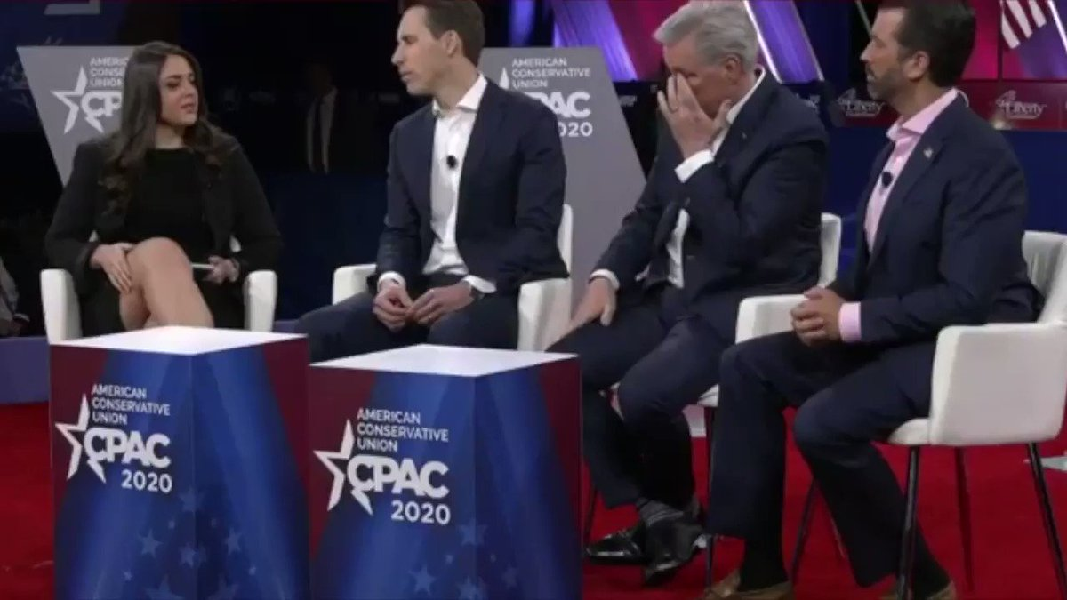 "Sen. @HawleyMO on His Proposal to Deal w/ Big Tech Censorship  ""If they are not going to give Conservatives the same treatment as Liberals, if they're going to discriminate on the basis of political speech, then they shouldn't be getting special deals from Government!"" #CPAC2020"