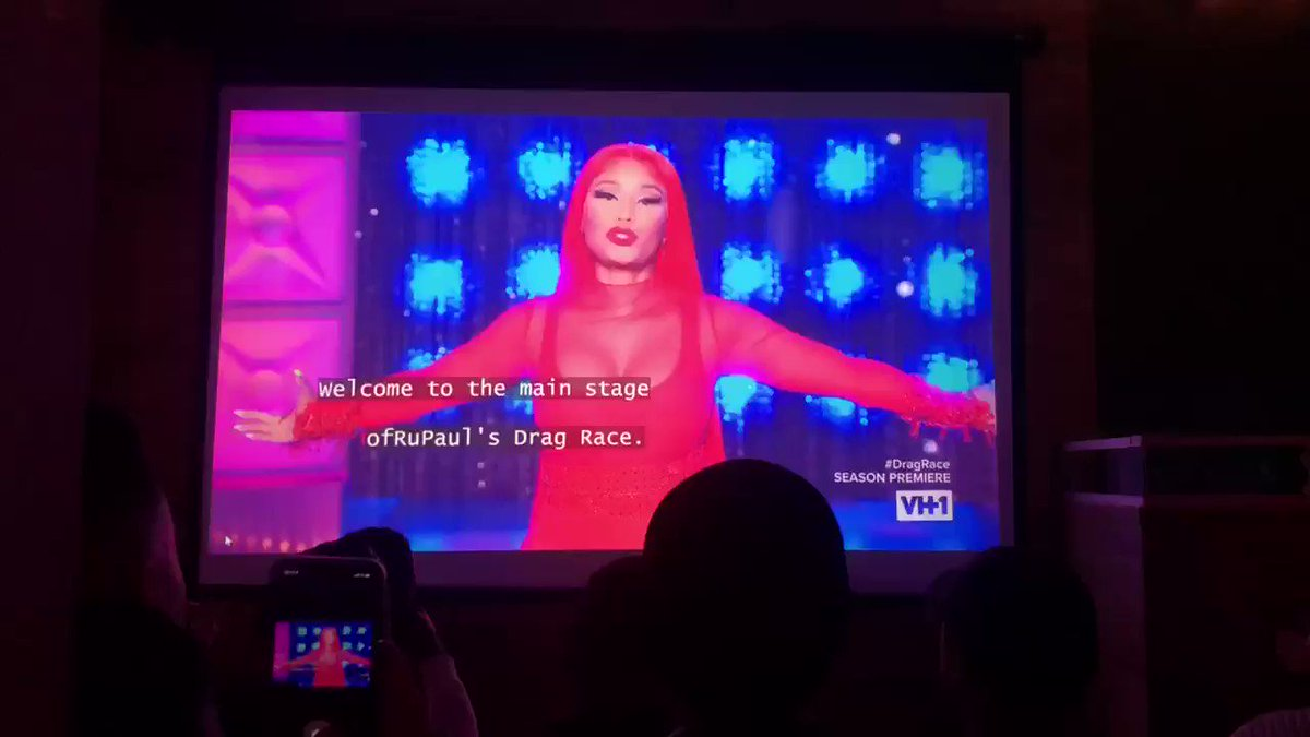 Listen, @NICKIMINAJ has the NYC children gagging at the watch party tonight!! #DragRace
