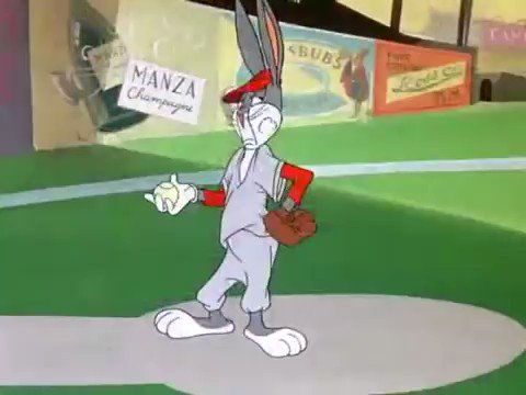 We'll take any Baseball we can get. #BaseBall #bugsbunny #nostalgia #cartoons #COVIDー19 #StayHome #staysafe