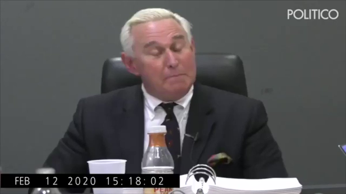 A reminder this morning that Roger Stone was convicted by a jury of his peers and is totally nuts.