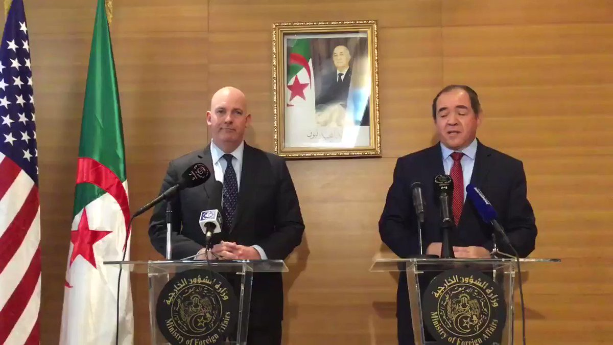@AsstSecPM The #UnitedStates is looking forward to working and partnering with the new #Algeria. https://t.co/WtqrIe7Ocl