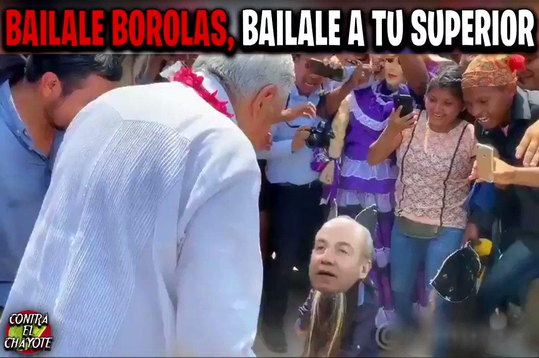 Borolas (@FelipeCalderon) bailándole a @lopezobrador_  para que no lo lleven a juicio  por la GUARDERIA ABC, Genaro Garcia, Estela de Luz, Avión Presidencial y un sin fin de corrputelas.  @MexLibre_  no va ir ni de broma, ni se te ocurra volver @Mzavalagc  , México no olvida.