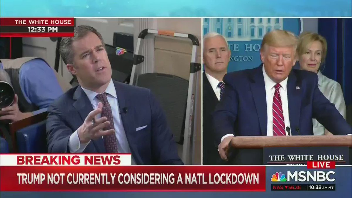 """Q: What do you say to Americans who are scared   TRUMP: """"I say that you're a terrible reporter, that's what I say.""""   Unreal."""